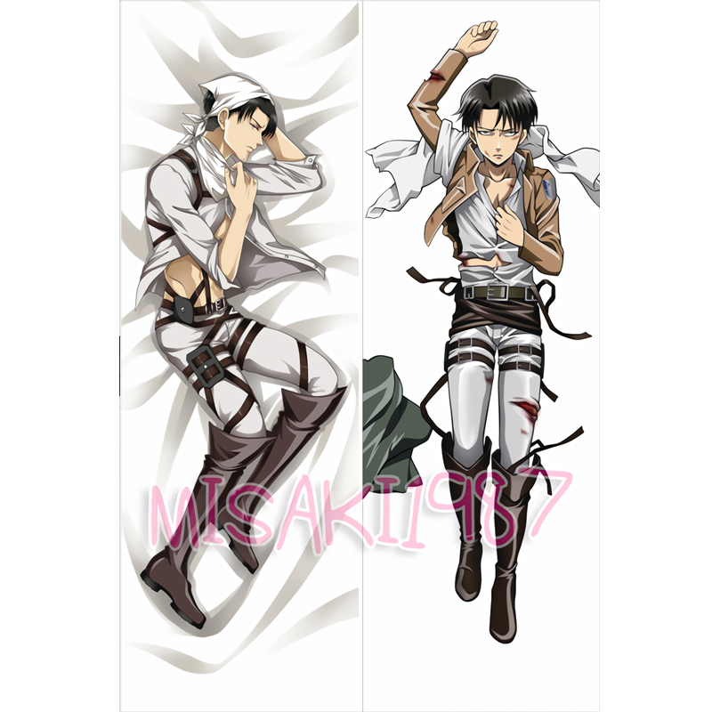 Attack On Titan Dakimakura Levi Anime Men Male Hugging ...