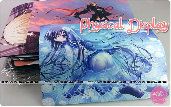 anime mouse pad physical display