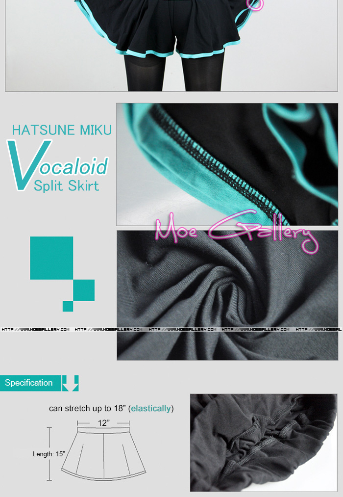 Vocaloid 2 Hatsune Miku Split Skirt
