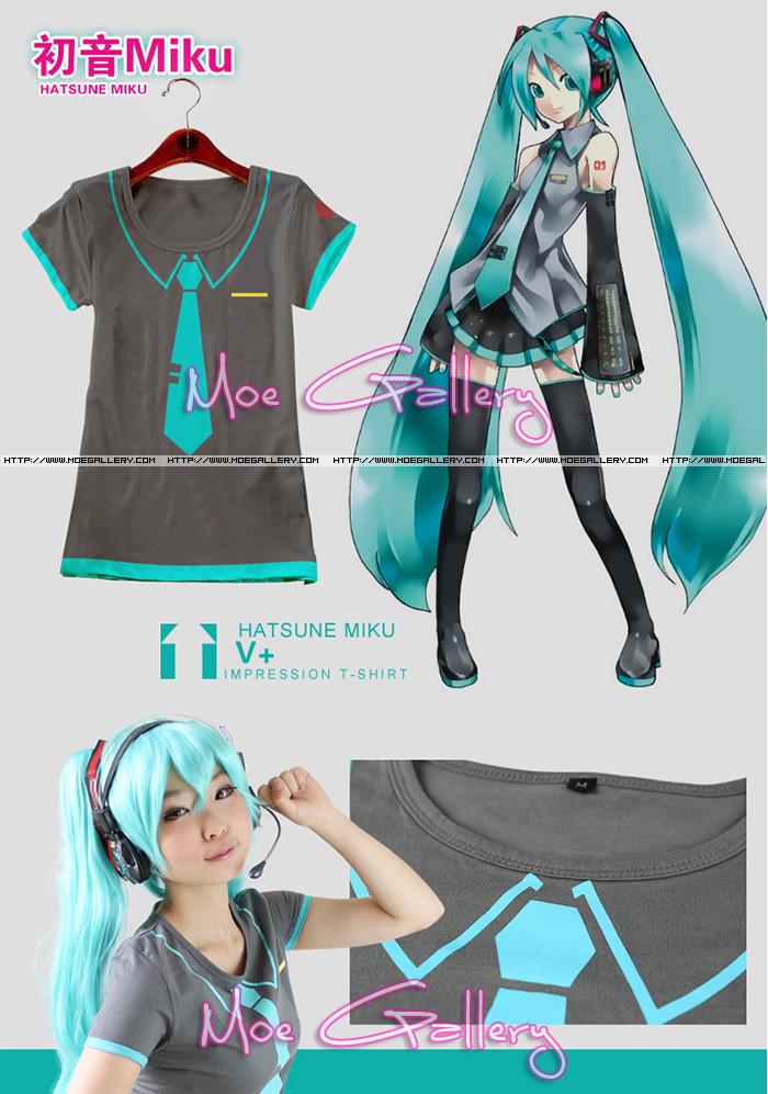 Vocaloid 2 Hatsune Miku T-Shirt Miku Tee