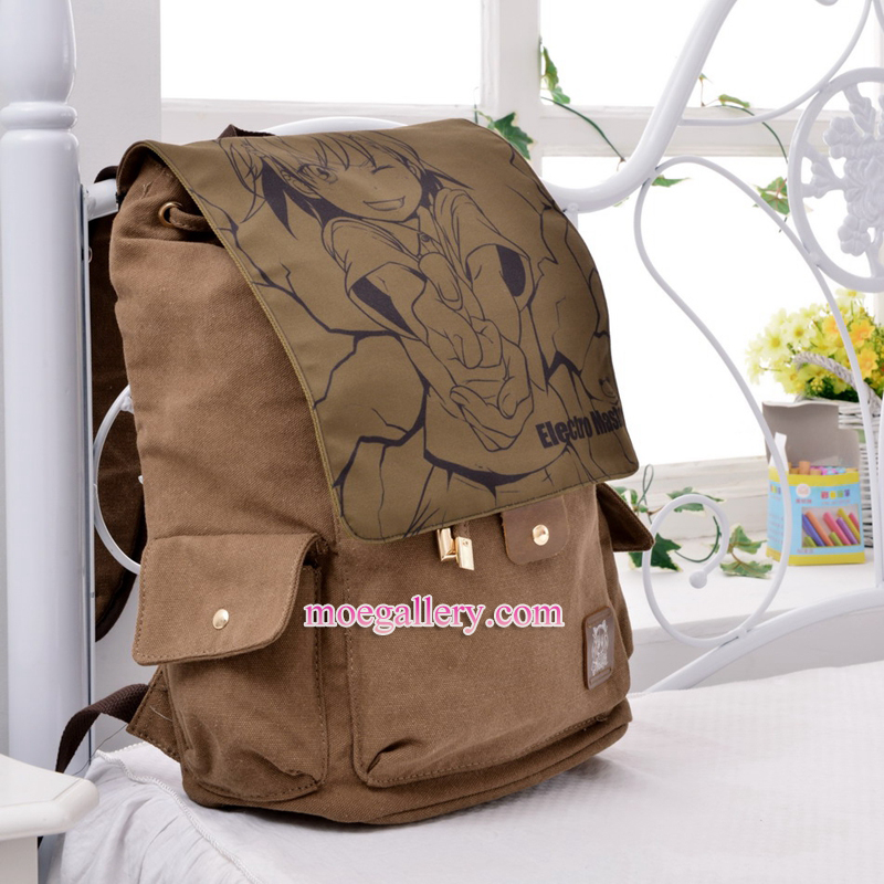 A Certain Magical Index Mikoto Misaka Anime Backpack Shoulder Bag