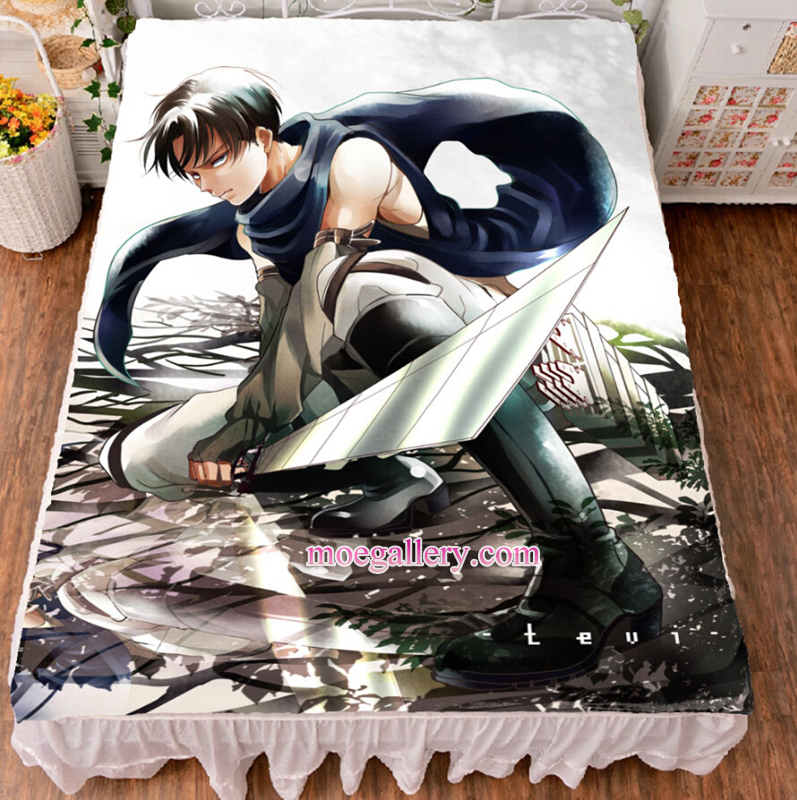 Attack On Titan Levi Anime Bed Sheet Summer Quilt Blanket Custom