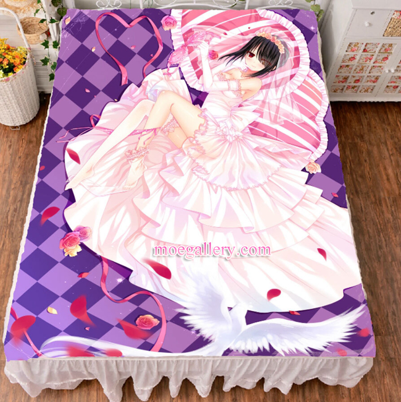 Date A Live Kurumi Tokisaki Anime Girl Bed Sheet Summer Quilt Blanket Custom 02