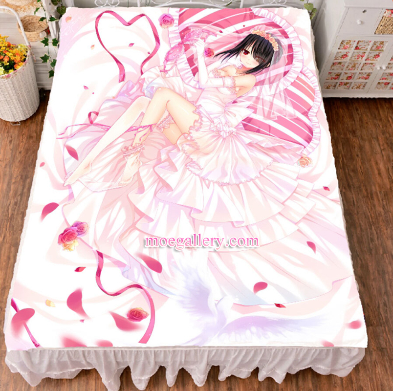 Date A Live Kurumi Tokisaki Anime Girl Bed Sheet Summer Quilt Blanket Custom