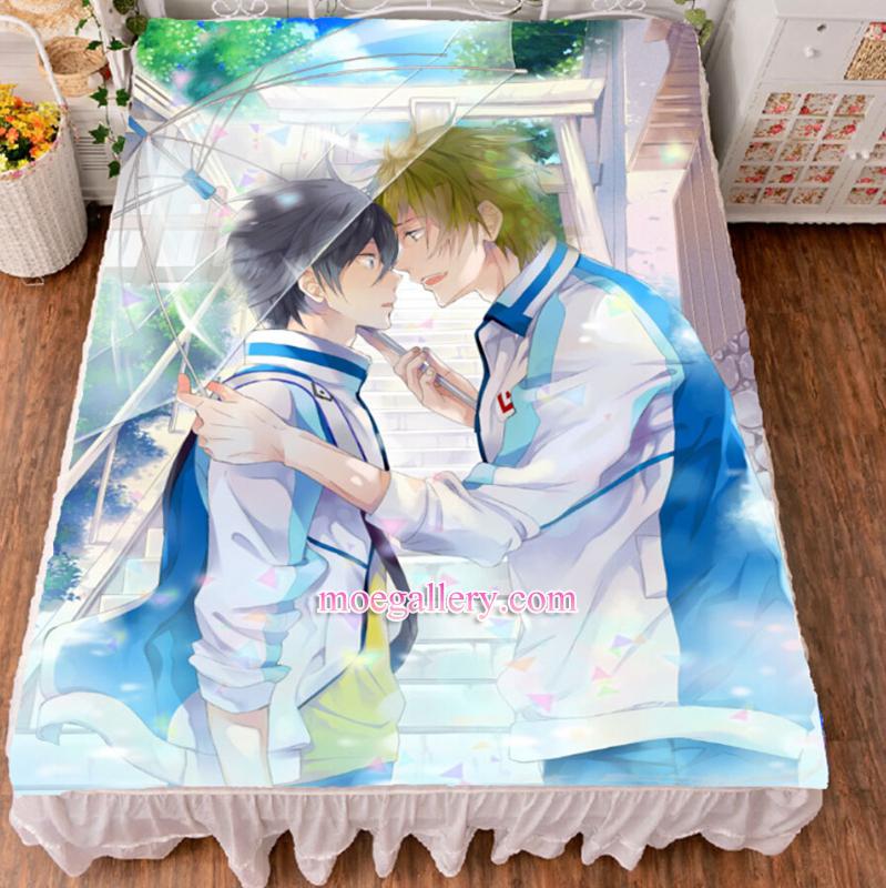 Free Haruka Nanase Makoto Tachibana Anime Bed Sheet Summer Quilt Blanket Custom