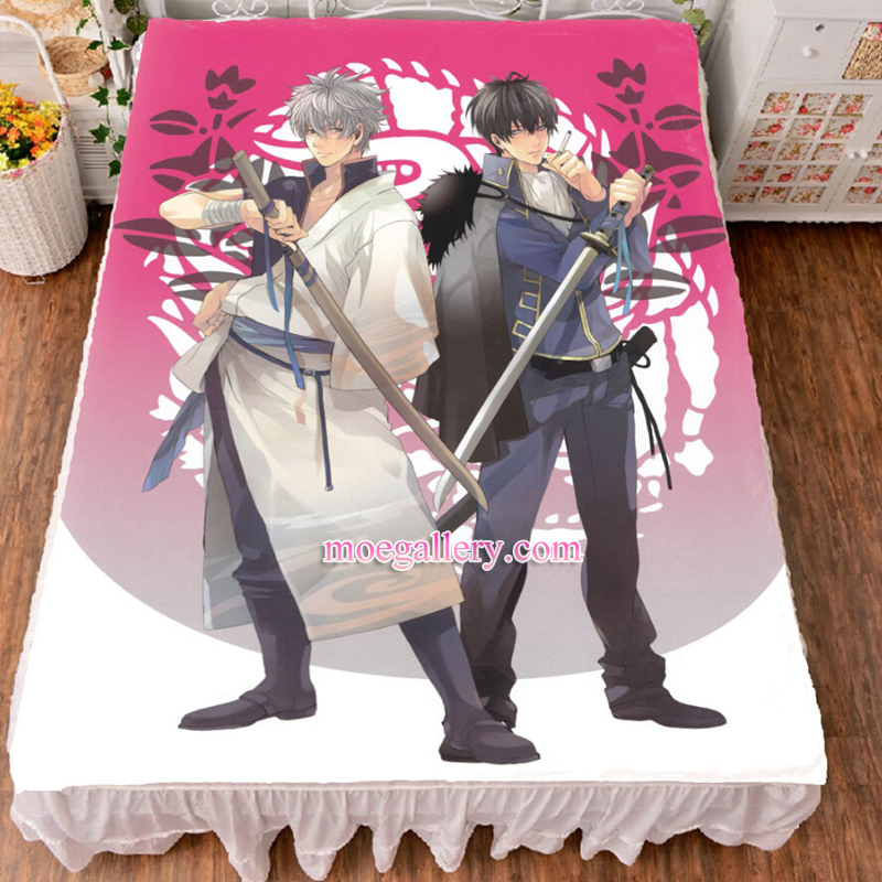 Gintama Gintoki Sakata Takasugi Shinsuke Anime Bed Sheet Summer Quilt Blanket Custom