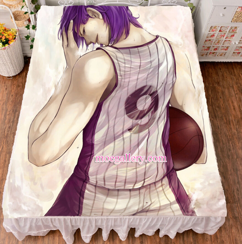 Kurokos Basketball Murasakibara Atsushi Anime Bed Sheet Summer Quilt Blanket Custom