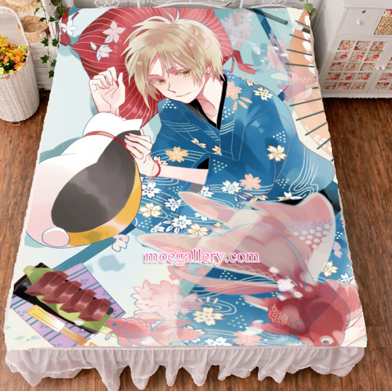 Natsume's Book of Friends Takashi Natsume Anime Bed Sheet Summer Quilt Blanket Custom 02