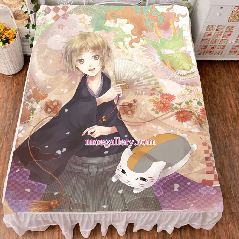 Natsume's Book of Friends Takashi Natsume Anime Bed Sheet Summer Quilt Blanket Custom 03