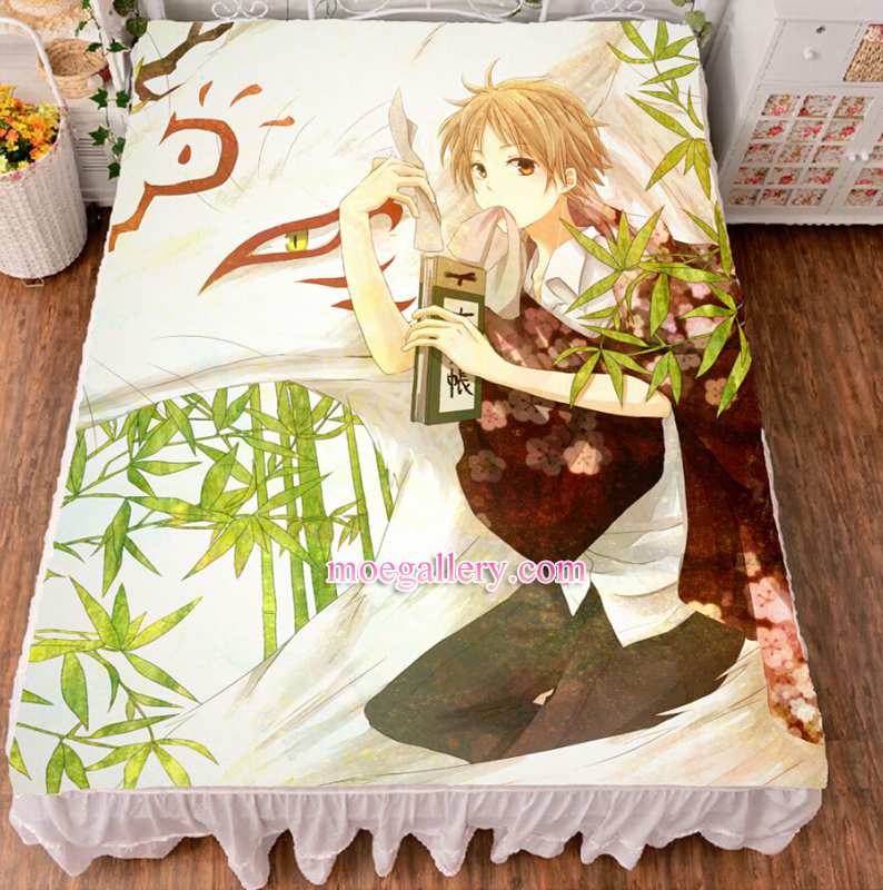 Natsume's Book of Friends Takashi Natsume Anime Bed Sheet Summer Quilt Blanket Custom