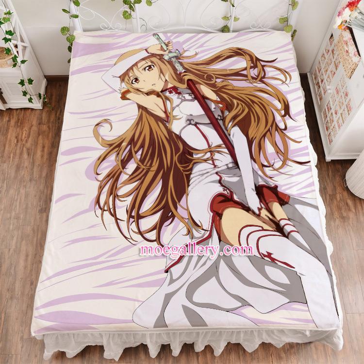 Sword Art Online Asuna Yuuki Anime Girl Bed Sheet