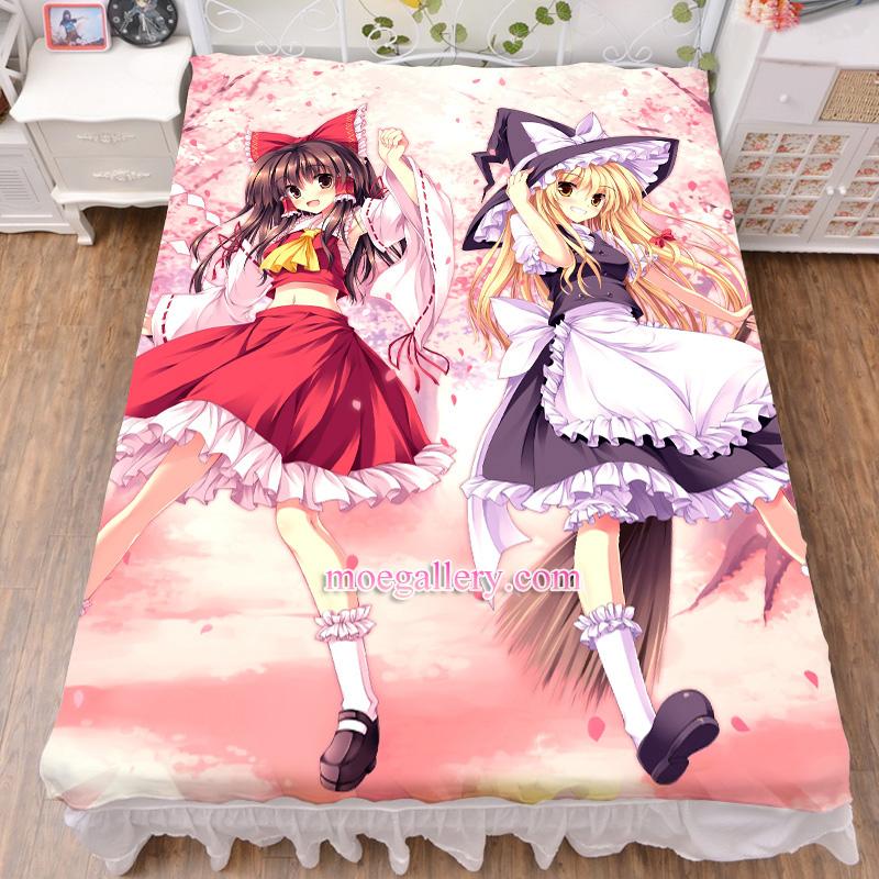 Touhou Project Reimu Hakurei Marisa Kirisame Anime Girl Bedsheet