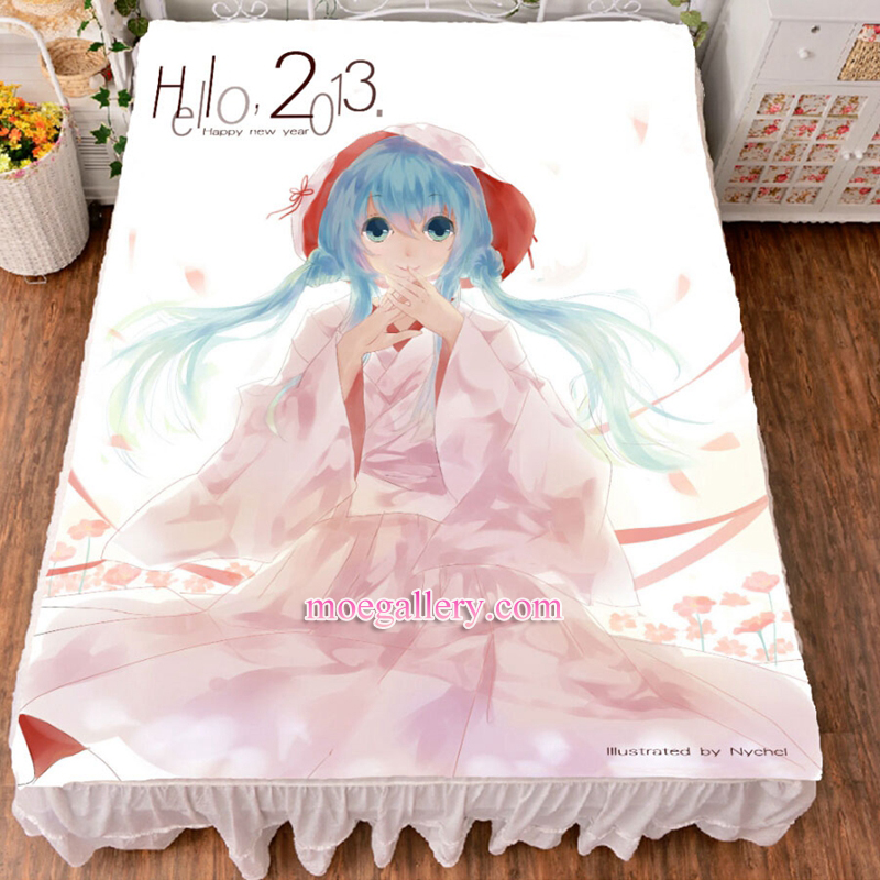 Vocaloid Hatsune Miku Anime Girl Bed Sheet Summer Quilt Blanket Custom