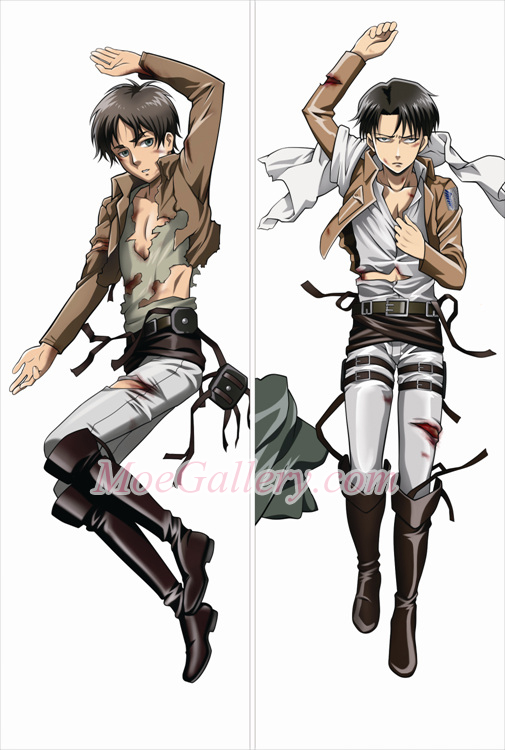Attack On Titan Eren Yeager Levi Body Pillow Case 02