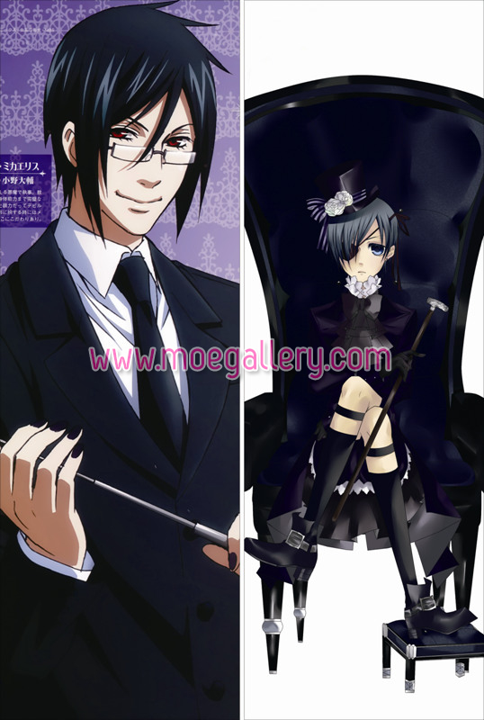 Black Butler Sebastian Michaelis Body Pillow Case 02