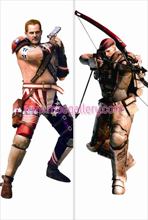 Resident Evil The Mercenaries 3D Barry Burton Body Pillow Case 01