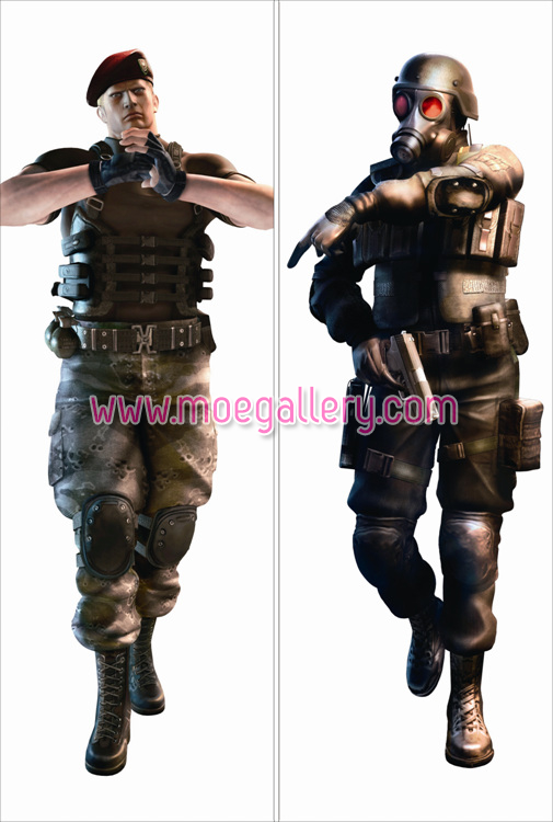Resident Evil The Mercenaries 3D Jack Krauser Body Pillow Case 01