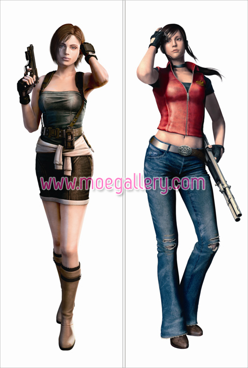 Resident Evil The Mercenaries 3D Jill Valentine Body Pillow Case 01