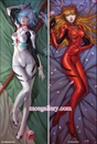 EVA Dakimakura Asuka Langley Soryu Rei Ayanami Body Pillow Case