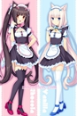 Neko Para Dakimakura Chocola Vanilla Body Pillow Case 02