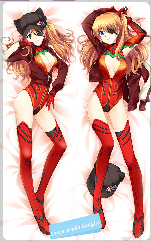 EVA Asuka Langley Soryu Body Pillow Case 17