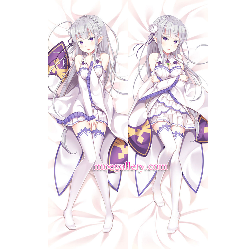 Re:Zero Dakimakura Emilia Body Pillow Case 04