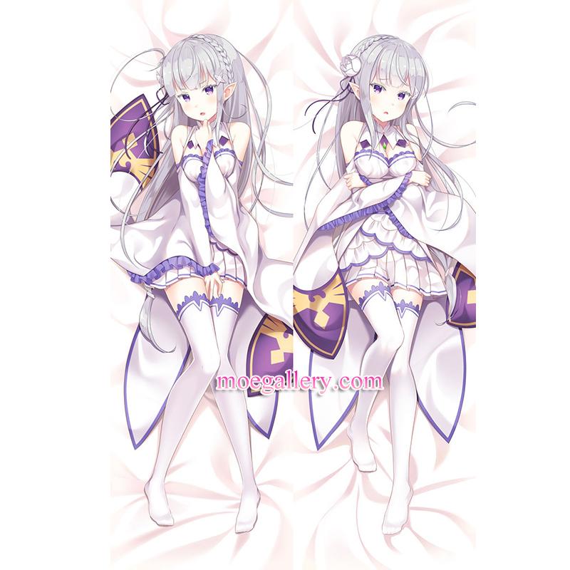 Re:Zero Dakimakura Emilia Body Pillow Case 04