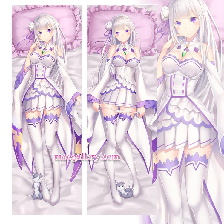Re:Zero Dakimakura Emilia Body Pillow Case 06