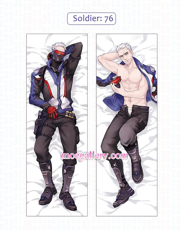 Overwatch Dakimakura Soldier 76 Body Pillow Case