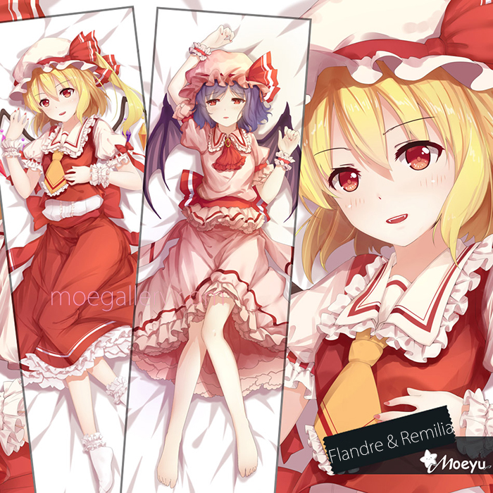 Touhou Project Flandre Remilia Scarlet Body Pillow Case 02