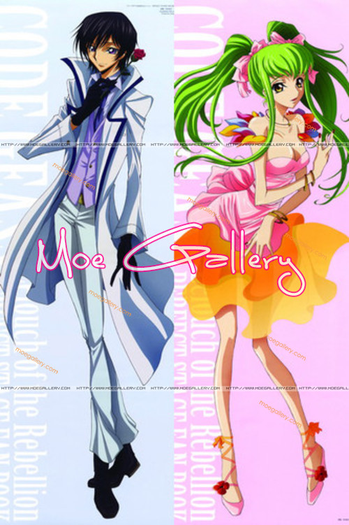 Code Geass C C  Lelouch Lamperouge Body Pillow 01Lelouch Double Geass