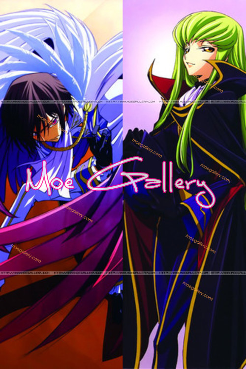 Code Geass C C  Lelouch Lamperouge Body Pillow 03Lelouch Double Geass