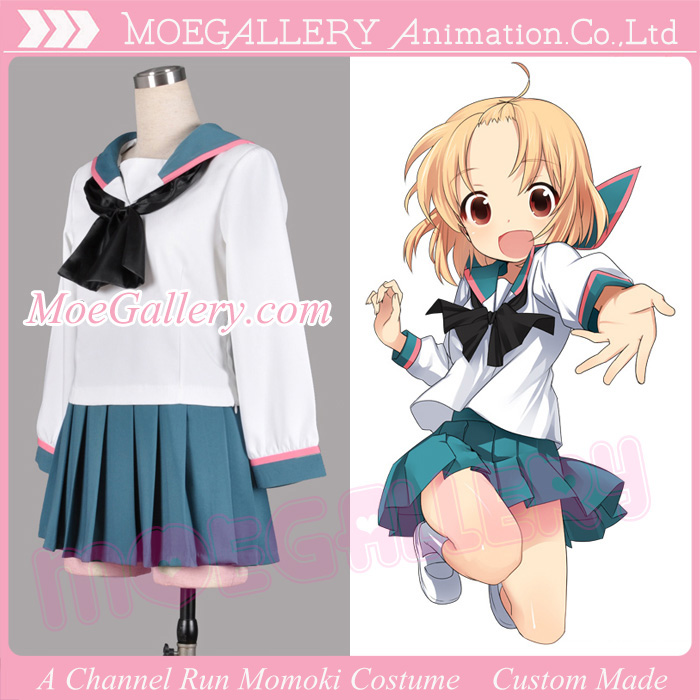 A Channel Run Momoki Cosplay Costume School Girl Uniform