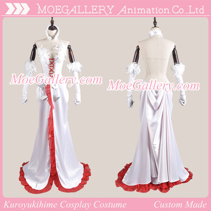 Accel World Kuroyukihime Cosplay White Dress