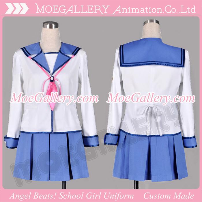 Angel Beats Yuri Nakamura Cosplay Costume School Girl Uniform