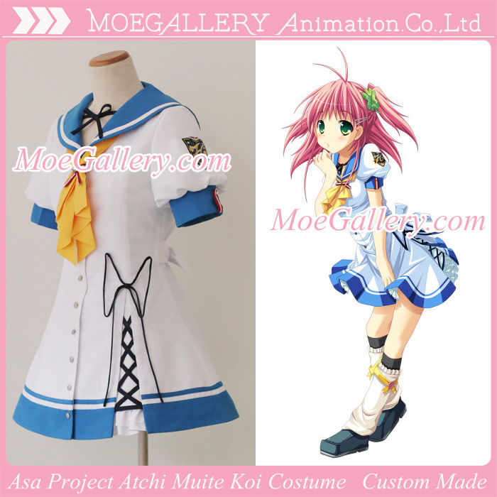 Asa Project Atchi Muite Koi Cosplay Girl Uniform