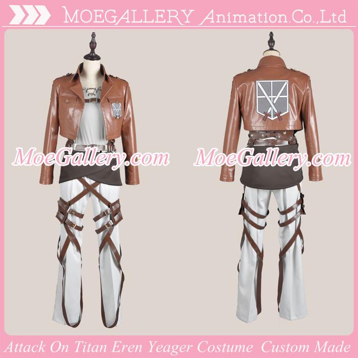 Attack On Titan Shingeki No Kyojin Eren Yeager Leather Cosplay Costume