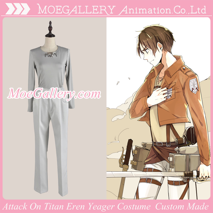 Attack On Titan Shingeki No Kyojin Eren Yeager Leather Cosplay Costume