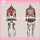 Attack On Titan Shingeki No Kyojin Mikasa Ackerman Leather Cosplay Costume