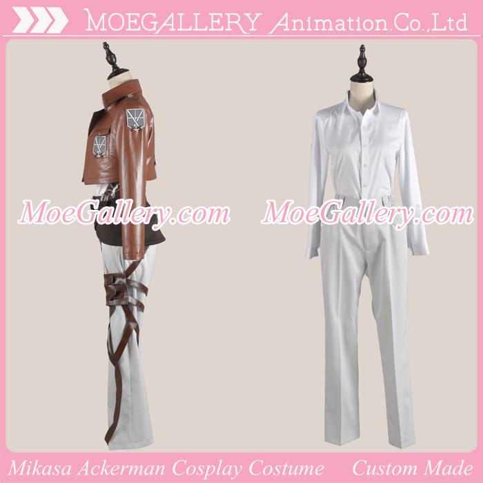 Attack On Titan Shingeki No Kyojin Mikasa Ackerman Leather Cosplay Costume