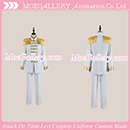 Attack On Titan Shingeki No Kyojin Levi White Cosplay Uniform