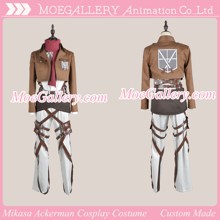 Attack On Titan Shingeki No Kyojin Mikasa Ackerman  Cosplay Costume