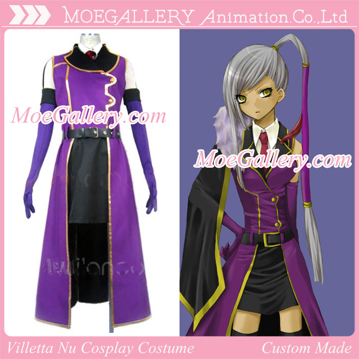 Code Geass Cosplay Villetta Nu Costume
