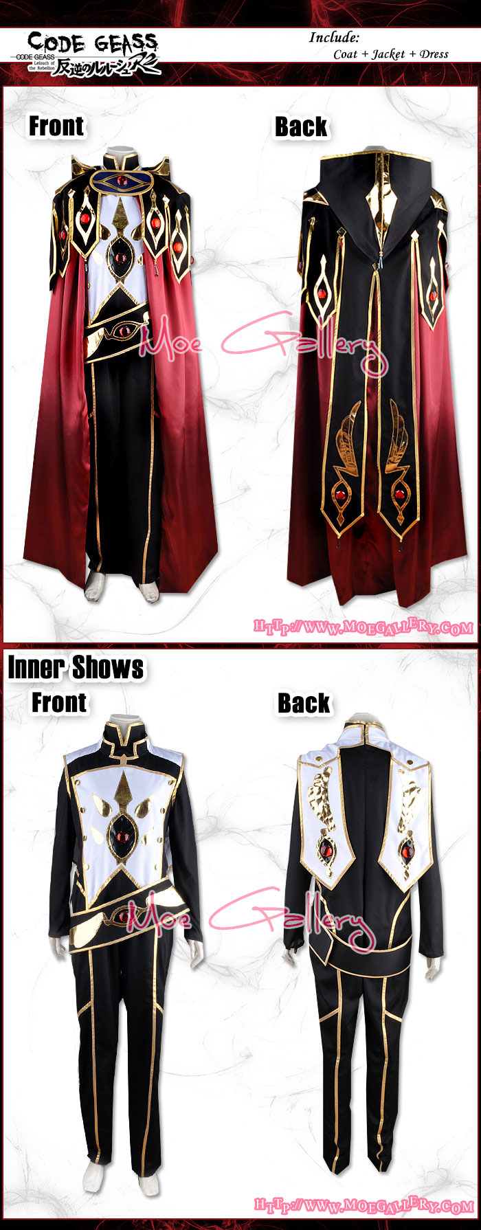 Code Geass Cosplay Zero Gorgeous Costume