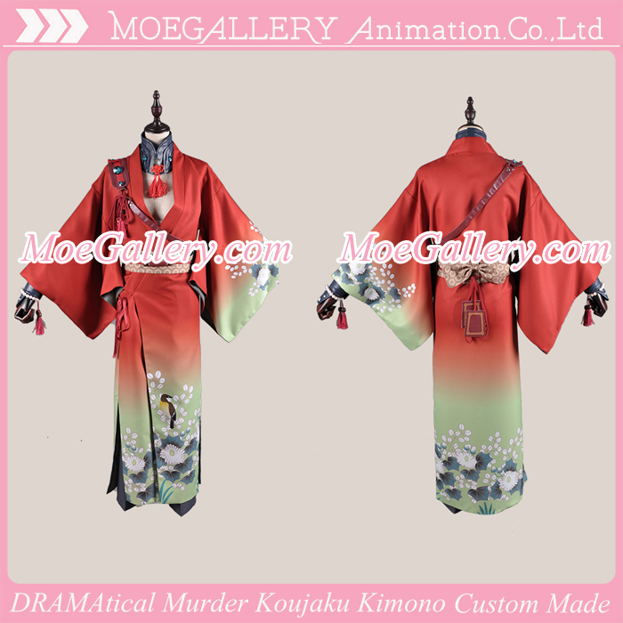 DRAMAtical Murder Koujaku Red Cosplay Kimono