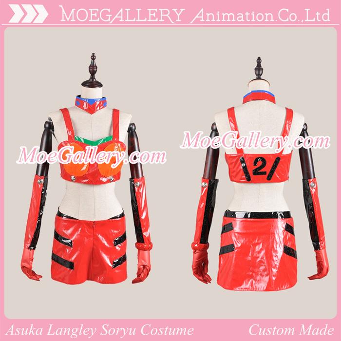 EVA Asuka Langley Soryu Cosplay Racing Costume