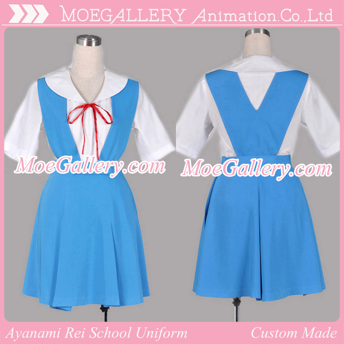 EVA Ayanami Rei Cosplay School Uniform