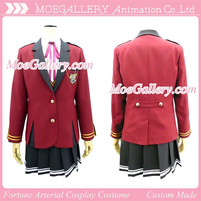 Fortune Arterial Cosplay School Girl Uniform