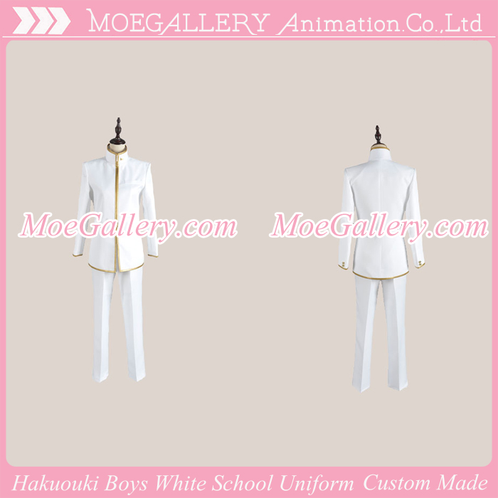 Hakuouki Zuisouroku School Boys White Uniform