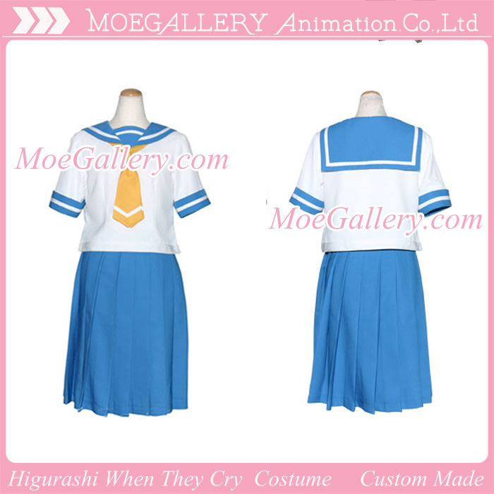 Higurashi When They Cry Cosplay School Girl Uniform